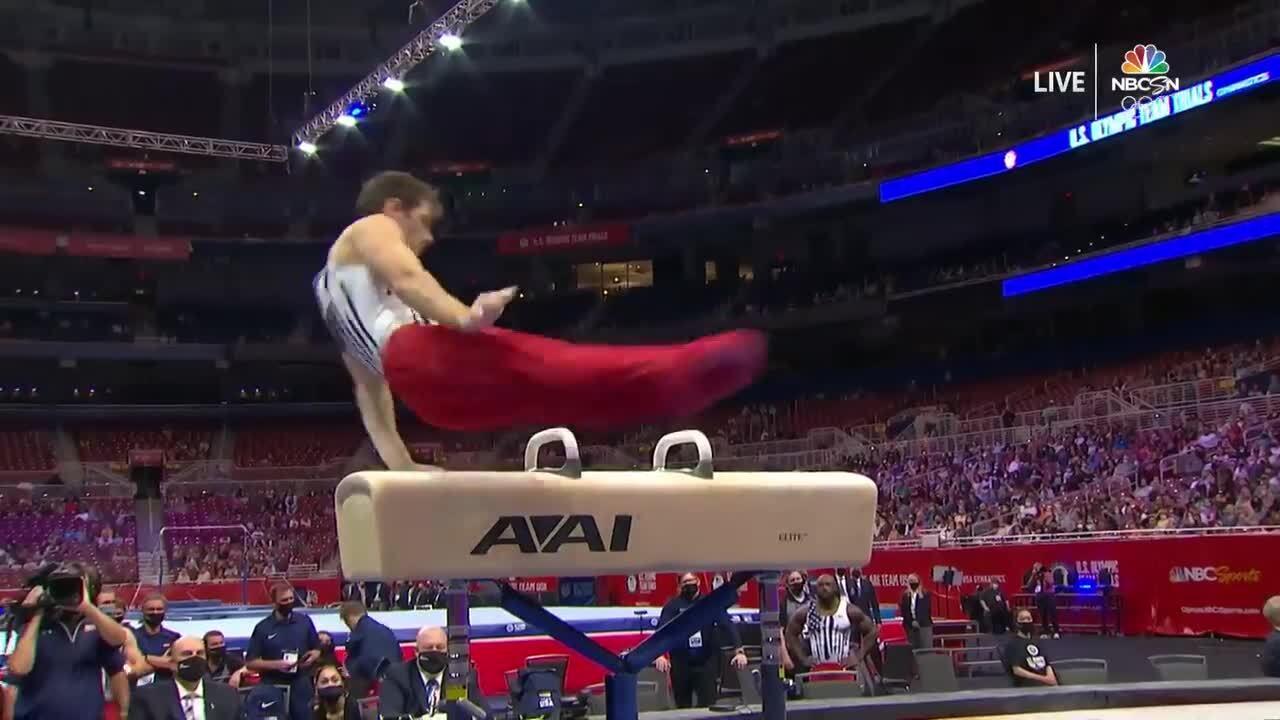 Alec Yoder Pommel Horse Day 1 | Gymnastics U.S. Olympic Team Trials 2021