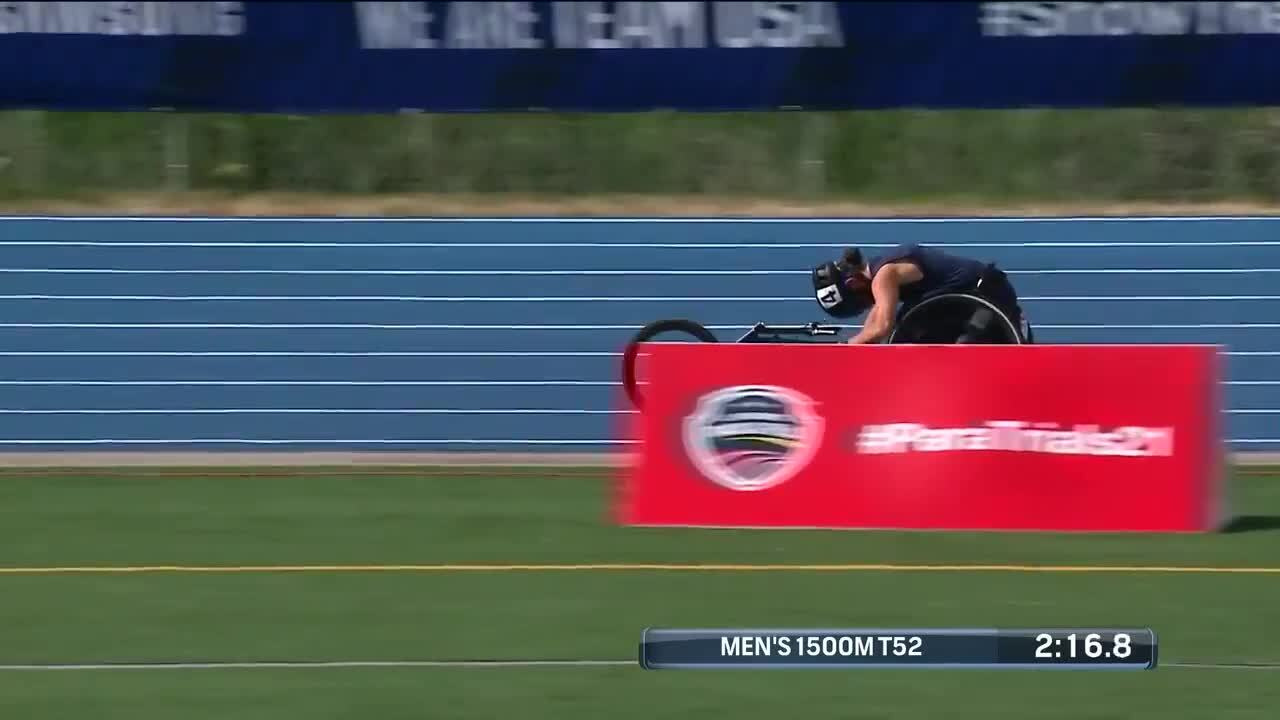 Para Track & Field Men's 1,500-Meter T52 Final | U.S. Paralympic Team Trials 2021