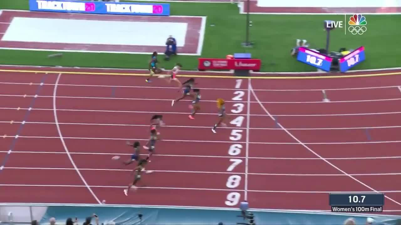 Women's 100-Meter Final | Track & Field U.S. Olympic Team Trials 2021