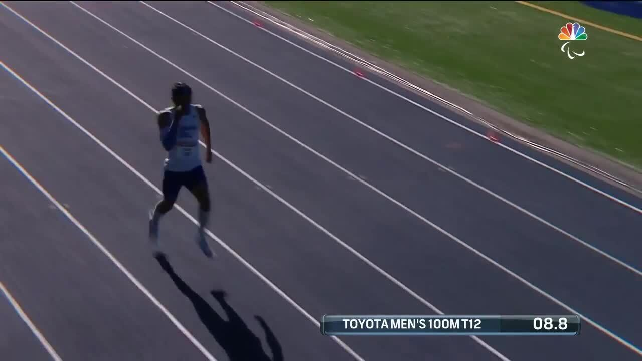 Para Track & Field Men's 100-Meter T12 Noah Malone   U.S. Paralympic Team Trials 2021
