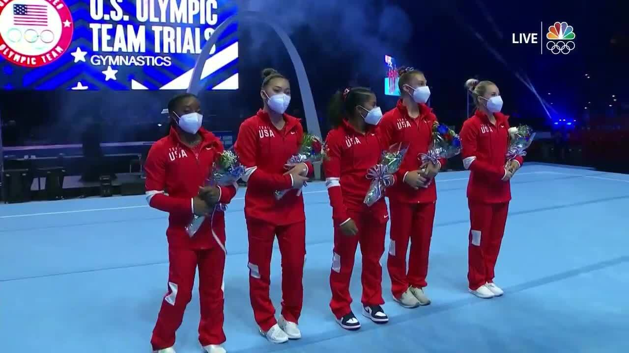 U.S. Women's Gymnastics Olympic Team Announcement | Gymnastics U.S. Olympic Team Trials 2021