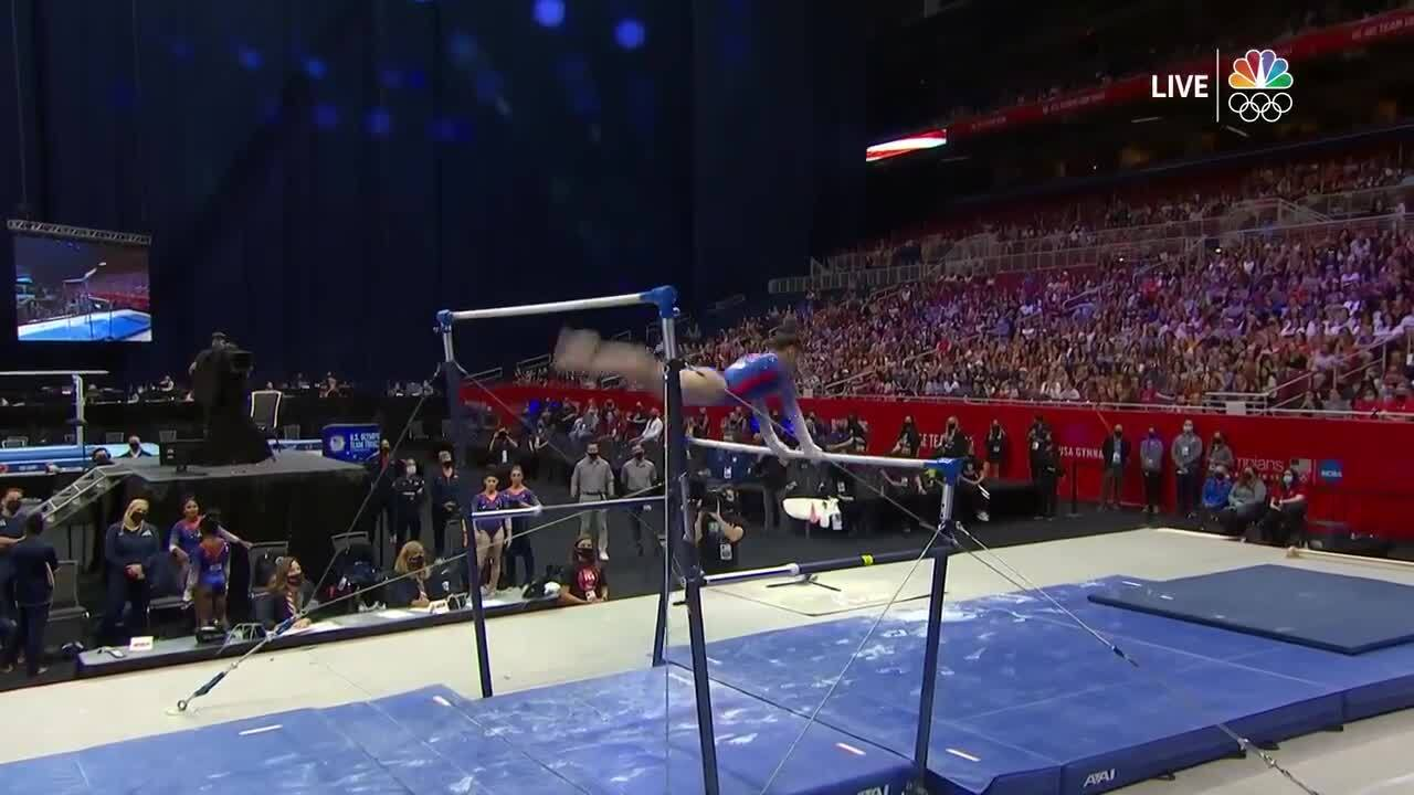 Sunisa Lee Uneven Bars Day 1 | Gymnastics U.S. Olympic Team Trials 2021
