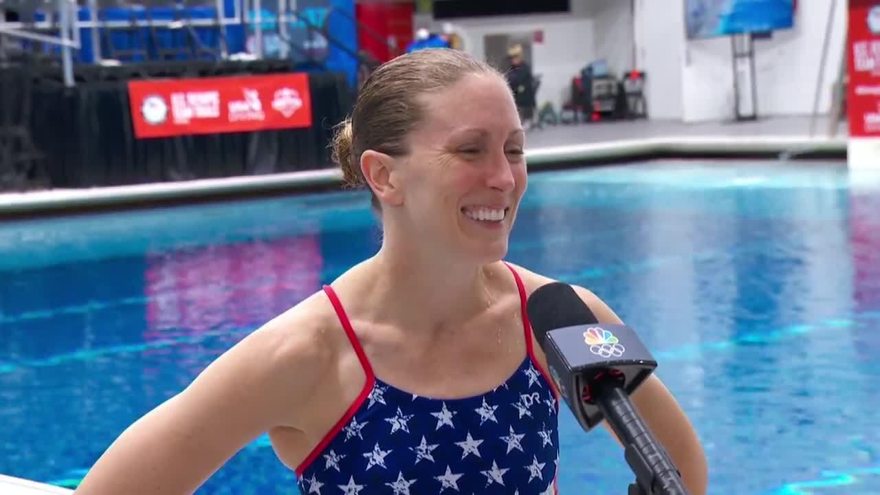 Laura Wilkinson Interview After 10-Meter Platform Semifinals | Diving U.S. Olympic Team Trials 2021