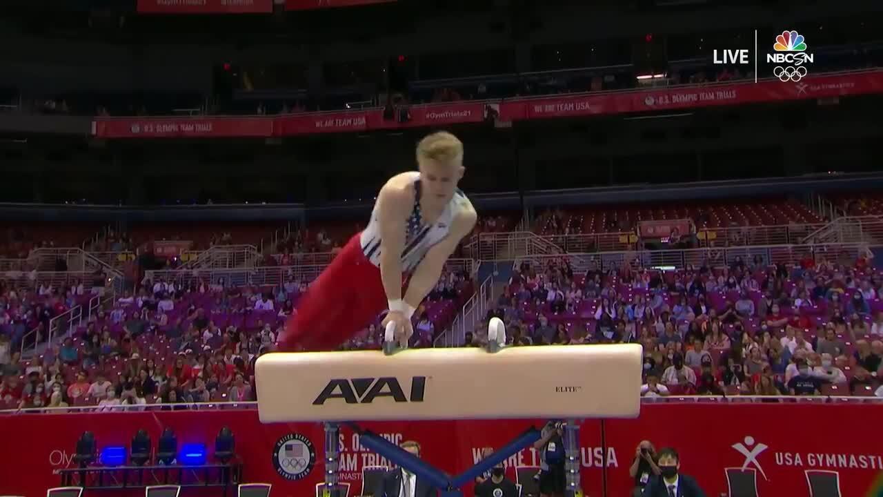 Shane Wiskus Pommel Horse Day 1   Gymnastics U.S. Olympic Team Trials 2021