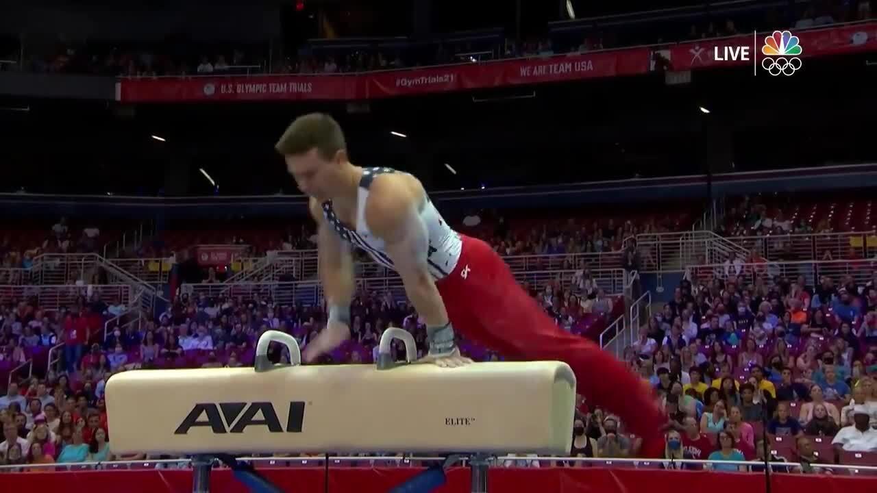 Brody Malone Pommel Horse Day 2 | Gymnastics U.S. Olympic Team Trials 2021