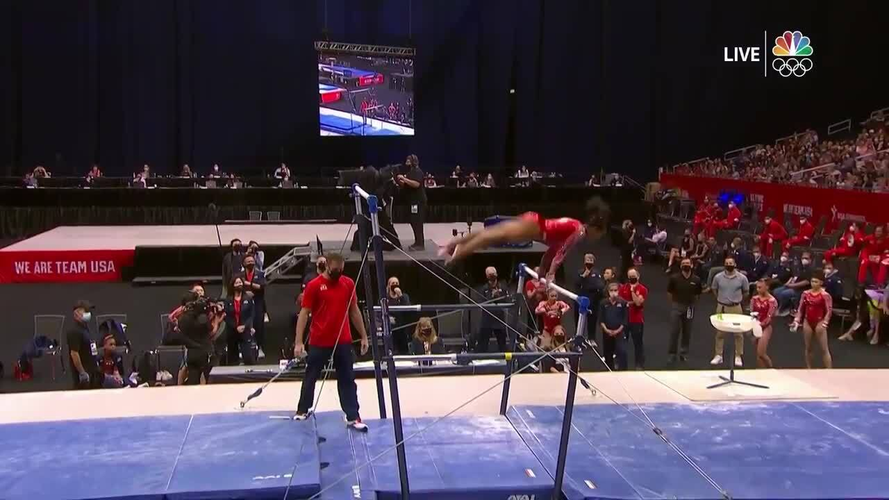 Jordan Chiles Uneven Bars Day 2 | Gymnastics U.S. Olympic Team Trials