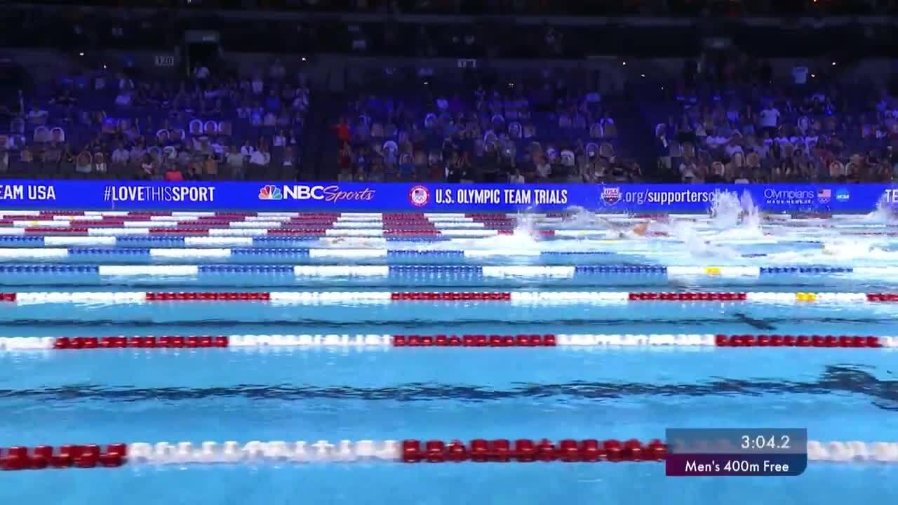 Kieran Smith Mens 400M Free Final   Swimming U.S. Olympic Team Trials
