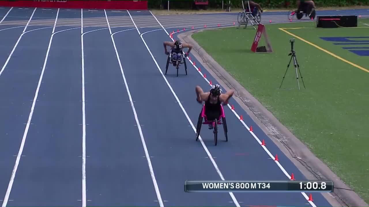 Para Track & Field Women's 800-Meter T34 Finals| U.S. Paralympic Team Trials 2021