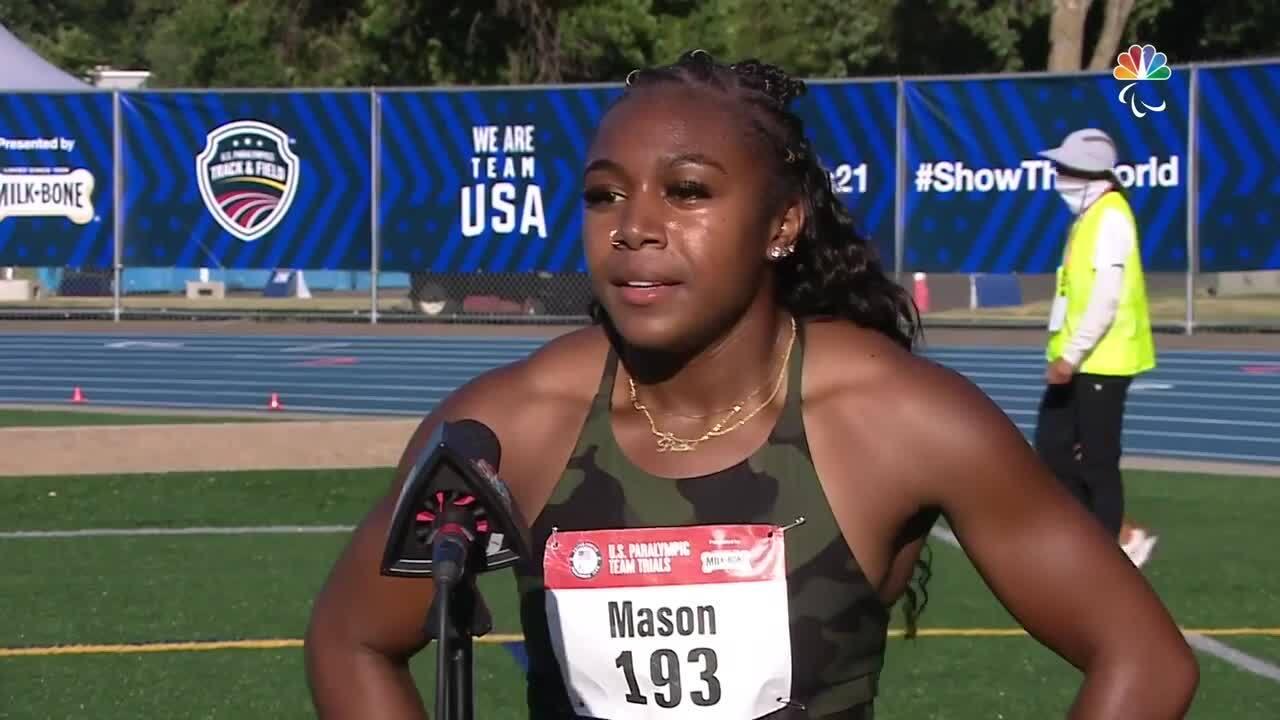 Para Track & Field Brittni Mason Interview   U.S. Paralympic Team Trials 2021