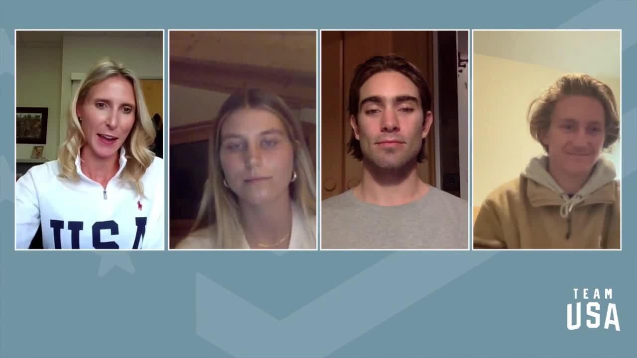 Red Gerard, Alex Hall, Maddie Mastro | Beijing 2022 Team USA Media Summit