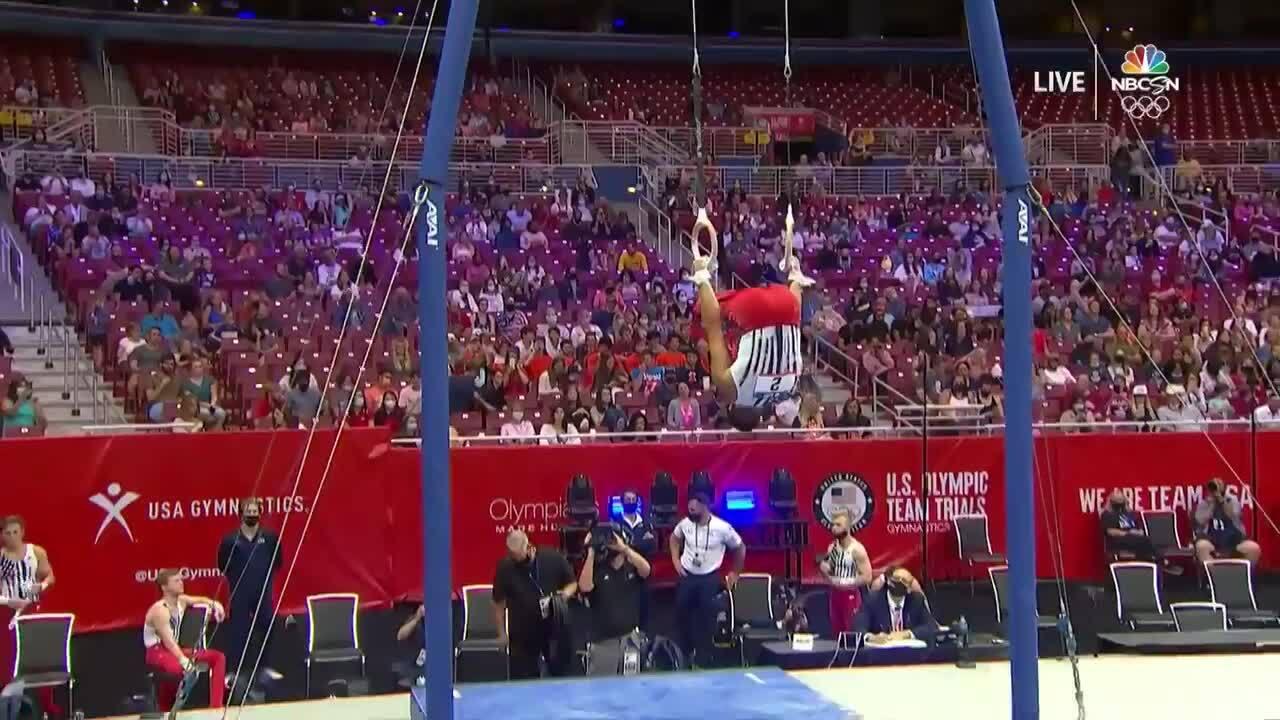 Yul Moldauer Rings Day 1 | Gymnastics U.S. Olympic Team Trials 2021