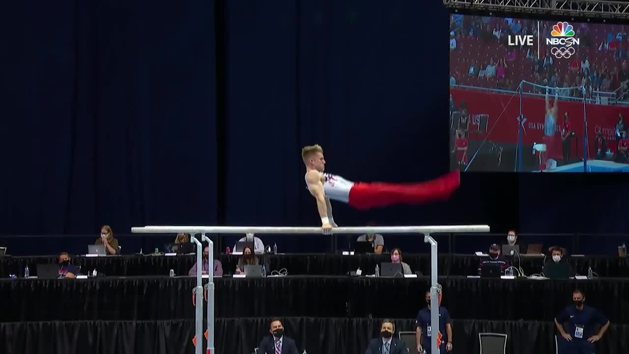 Shane Wiskus Parallel Bars Day 1 | Gymnastics U.S. Olympic Team Trials 2021