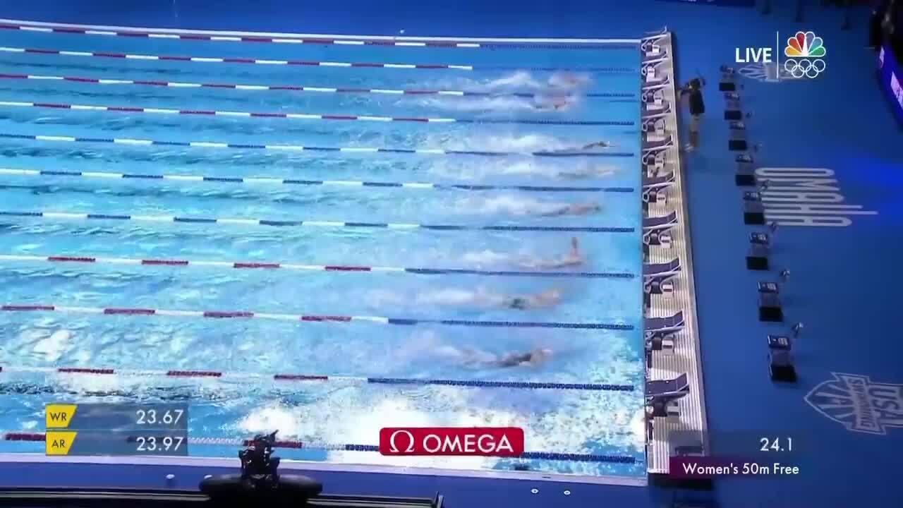 Women's 50-Meter Freestyle | Swimming U.S. Olympic Team Trials 2021