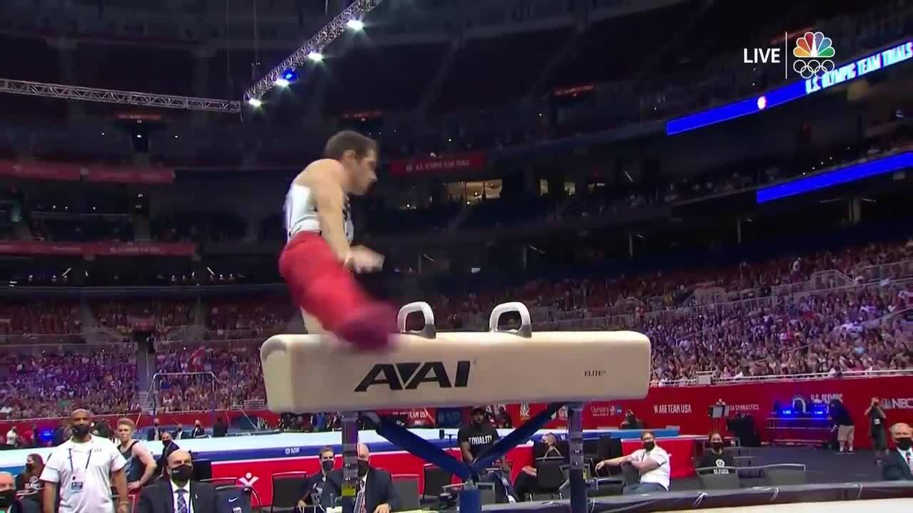 Alec Yoder Pommel Horse Day 2 | Gymnastics U.S. Olympic Team Trials 2021