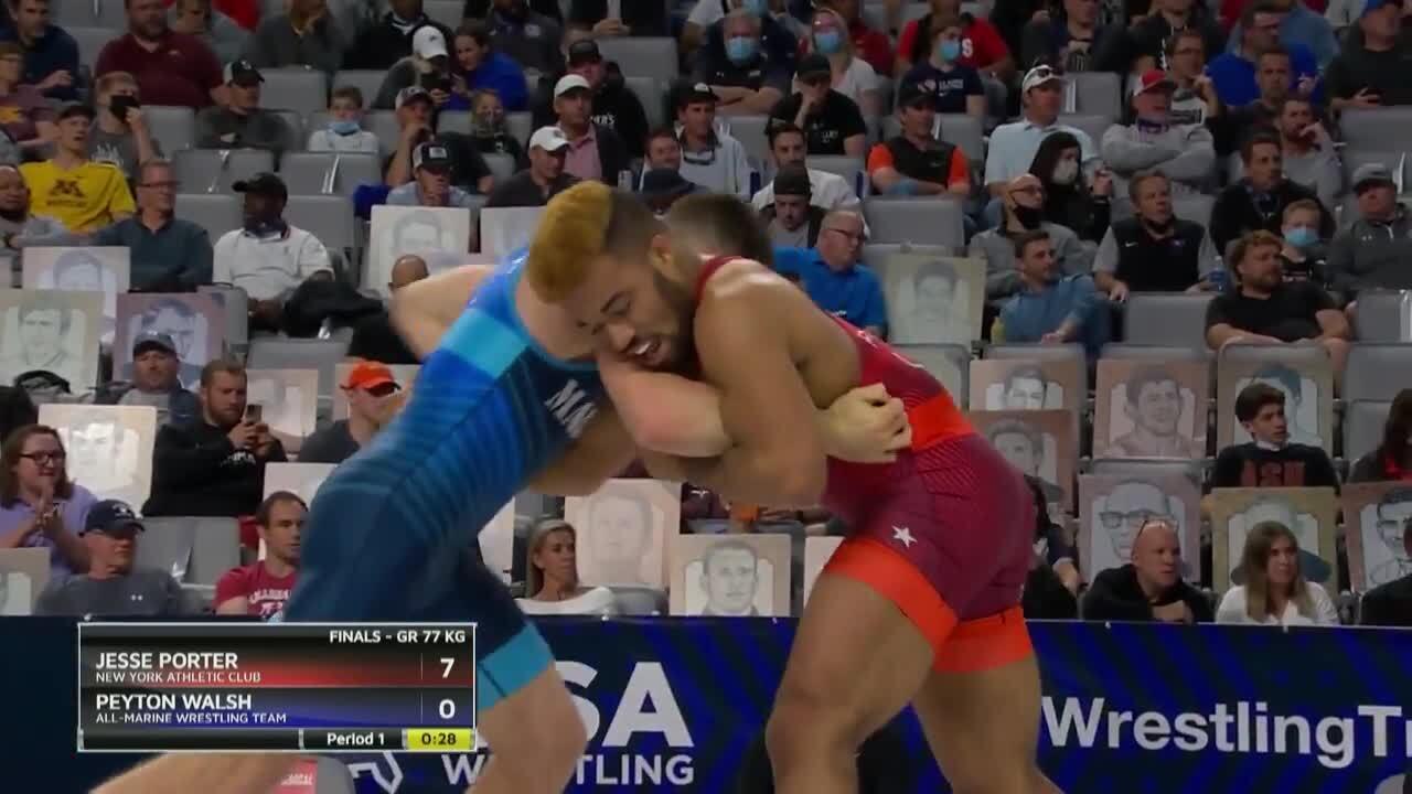 Jesse Porter VS Peyton Walsh - Greco-Roman (77 kg.) | Wrestling U.S. Olympic Team Trials 2020