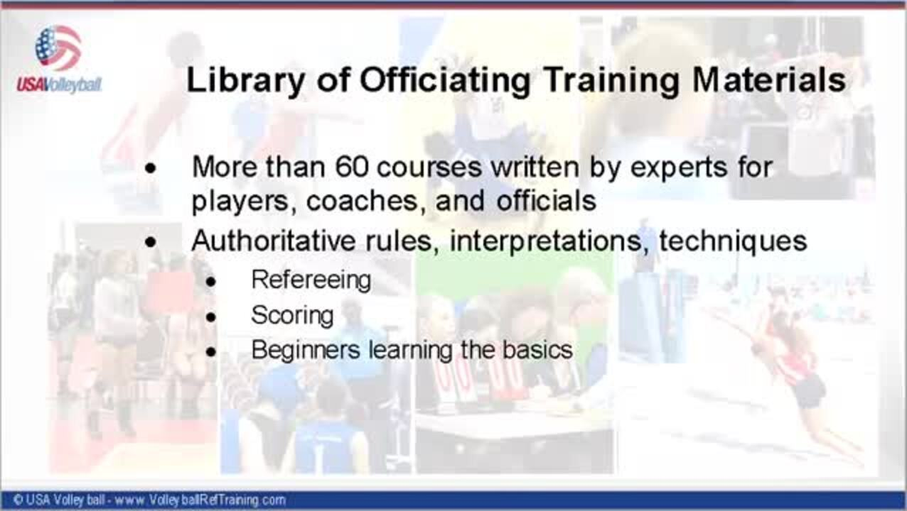 USAV Officiating Training Materials Introduction