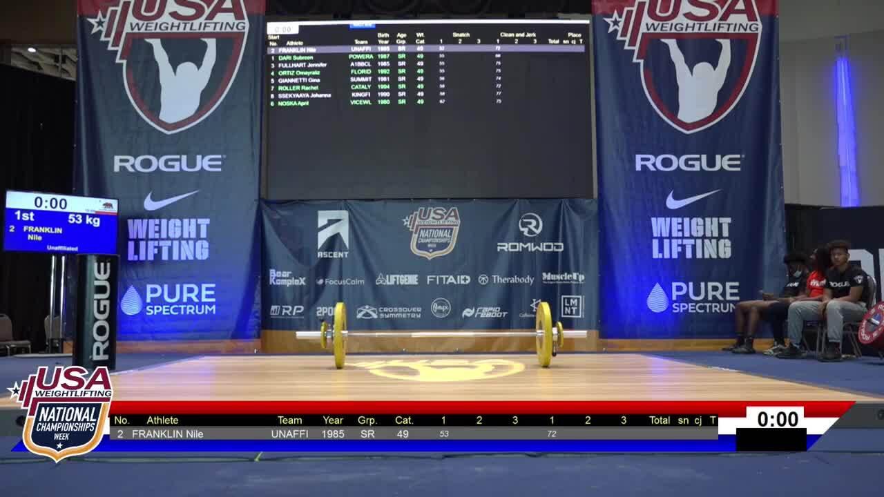 21 Nationals Session 1 Blue F 49kg B
