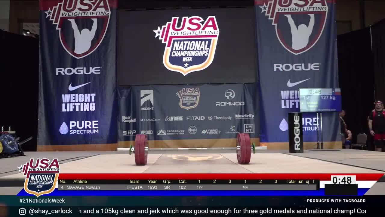21 Nationals Session 9 White M 102kg B