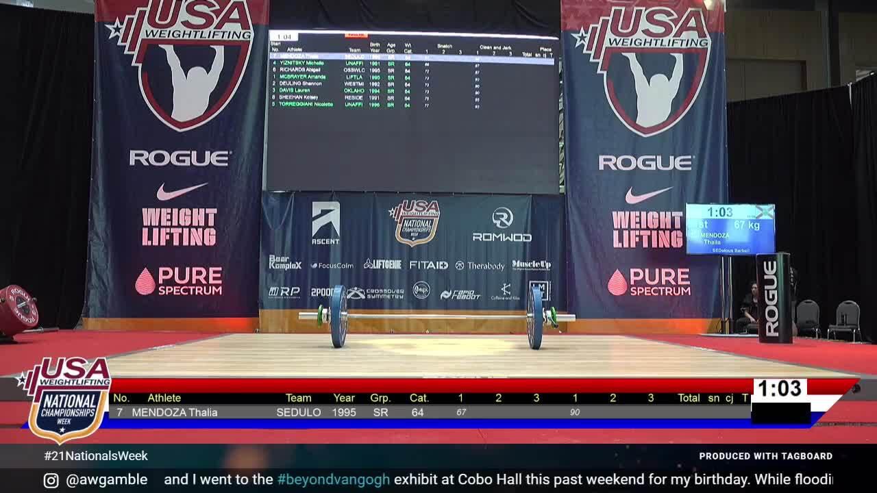 21 Nationals Session 7 Red F 64kg D