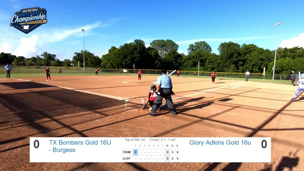 16 GOLD | July 23 | 6:30 pm Field 2 | TX Bombers Burgess vs Glory Gold Adkins