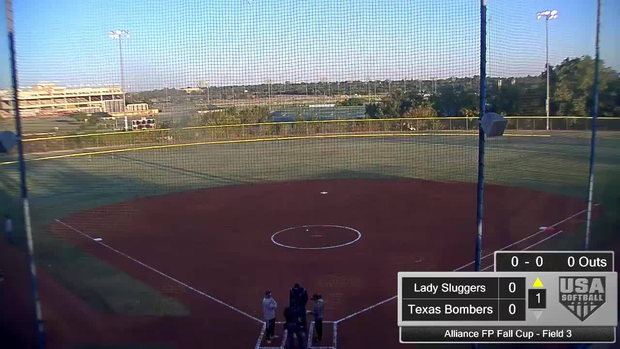 Alliance FP Fall Cup | Oct 4 | 8 am Field 3 | Texas Bombers Gold vs Louisville Lady Sluggers