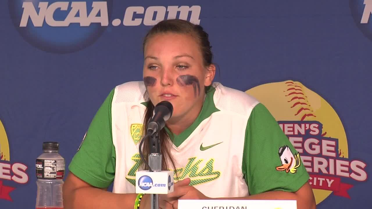 2014 NCAA WCWS Game 5 - Oregon Press Conference 5/30/14