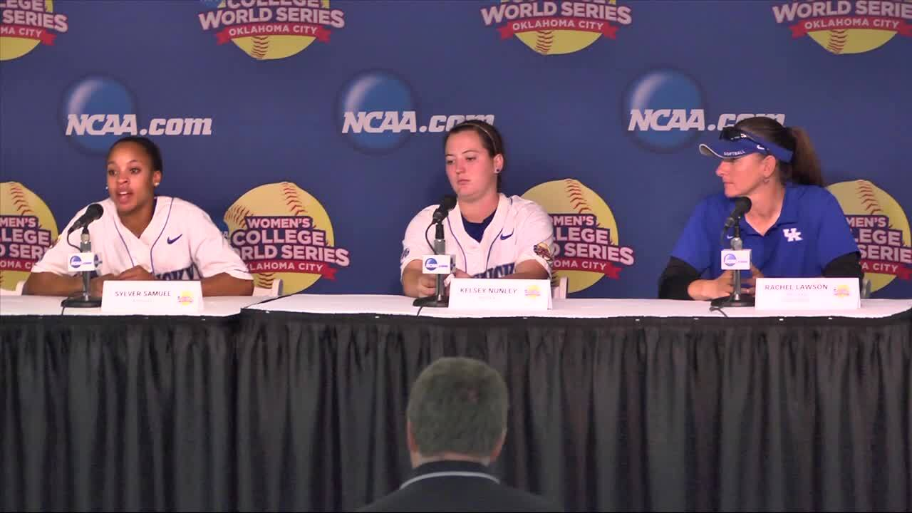 2014 NCAA WCWS Game 6 - Kentucky Press Conference 5/30/14