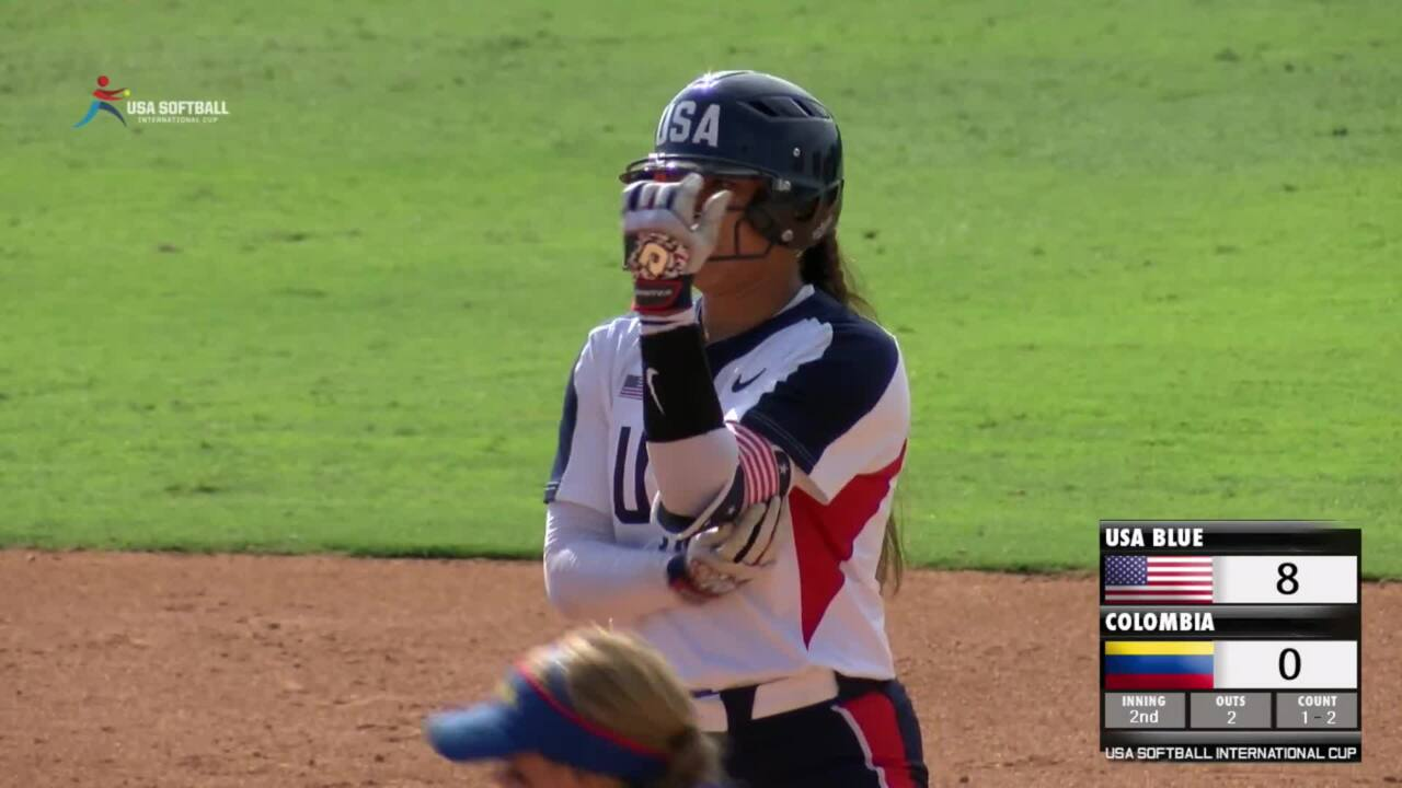 USA Softball International Cup - USA Blue vs Colombia