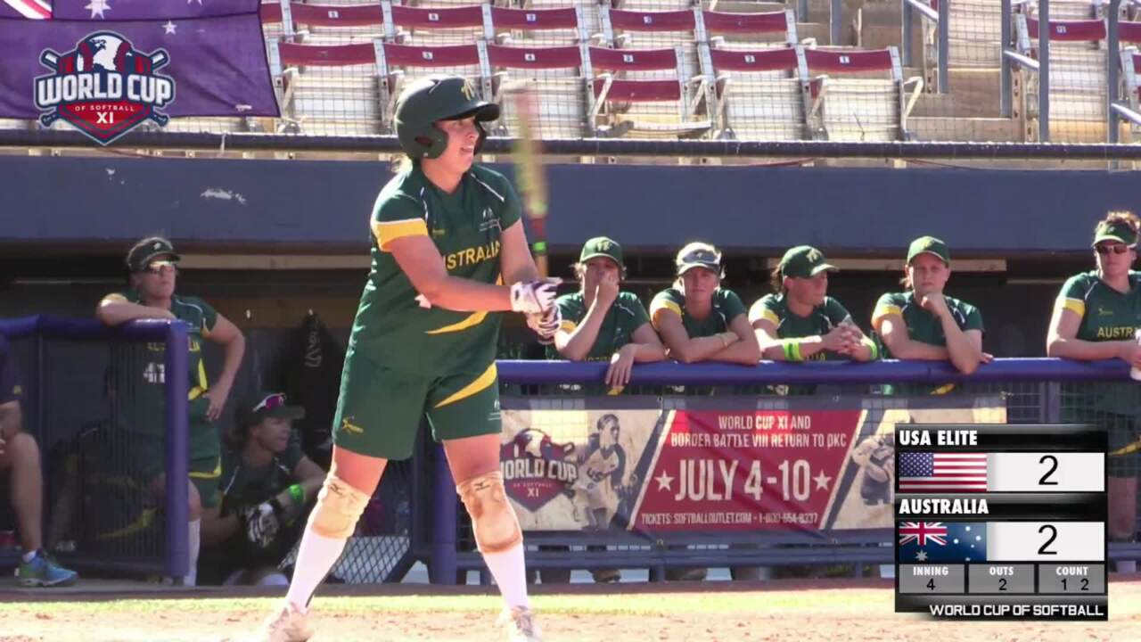 World Cup of Softball XI: USA Elite vs Australia