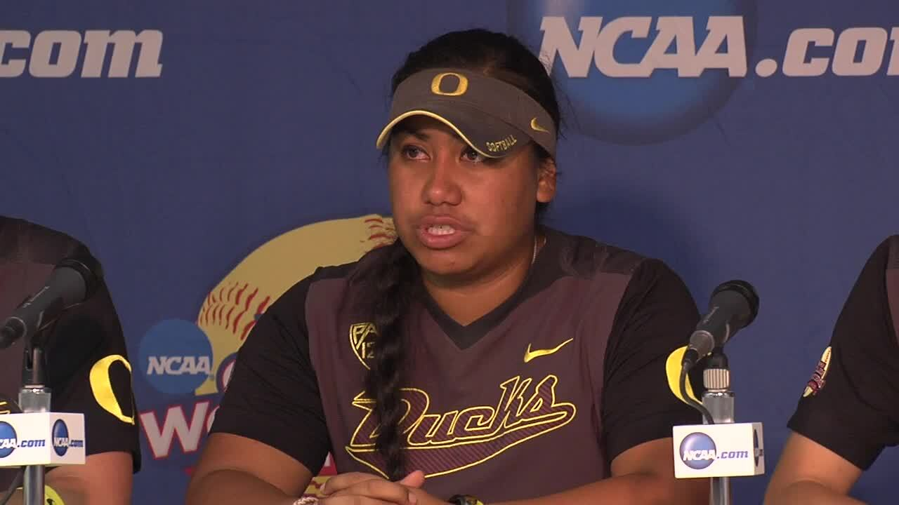 2014 NCAA WCWS Game 12 - Oregon Press Conference 6/1/14