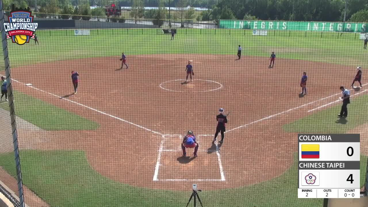 WBSC JWWC - Chinese Taipei vs Colombia
