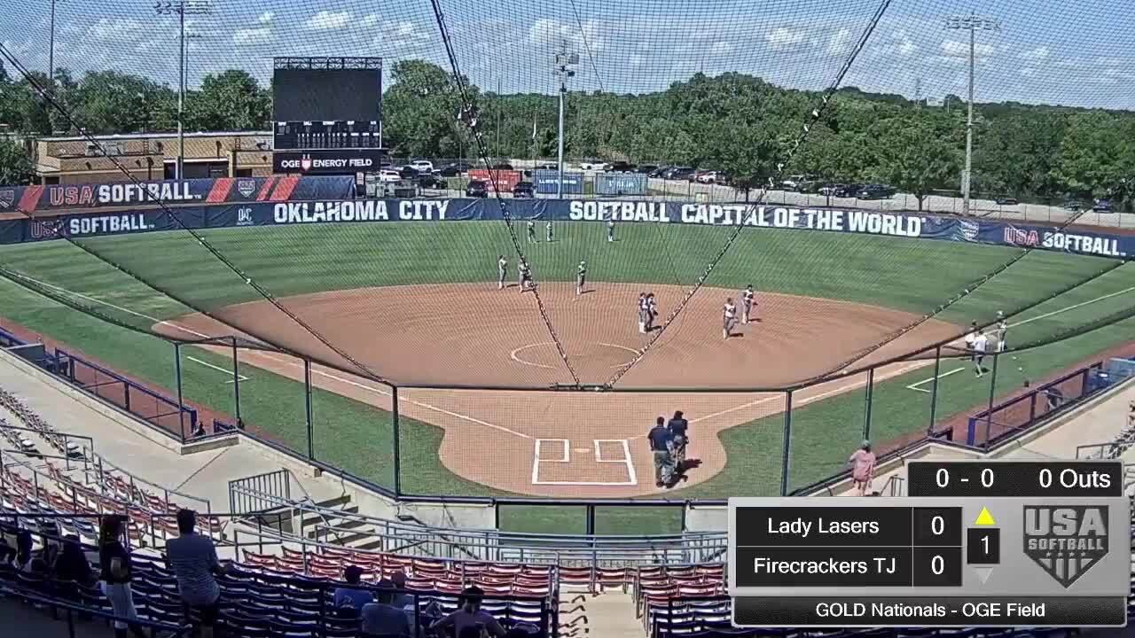 18 GOLD | July 22 | 4 pm OGE ENergy | Firecrackers Housh vs Lady Lasers