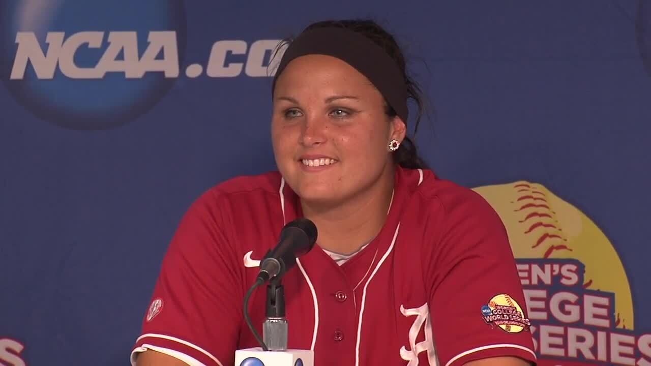 2014 NCAA WCWS Championship Game 2 - Alabama Press Conference 6/3/14