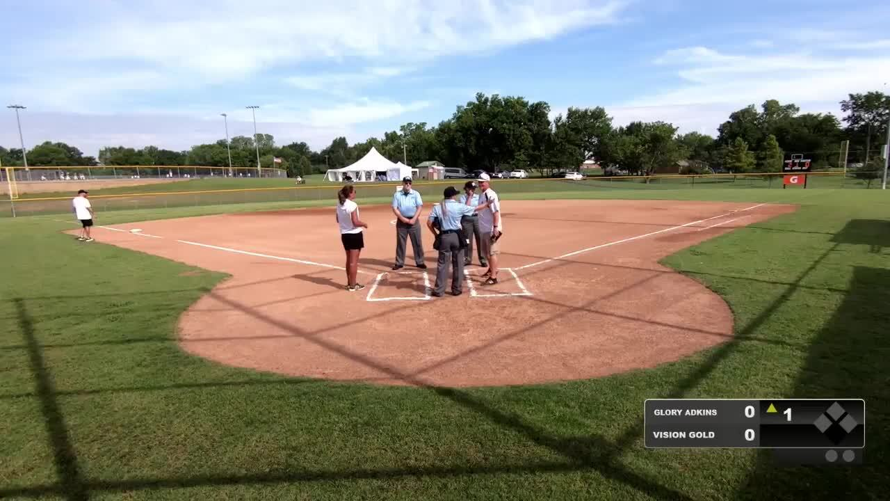 16 GOLD | July 20 | 10 am Field 11 | Glory Adkins vs 16U Vision