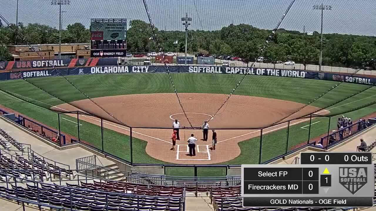 18 GOLD | July 20 | 2 pm OGE Energy | Select Fastpitch vs Firecrackers MD