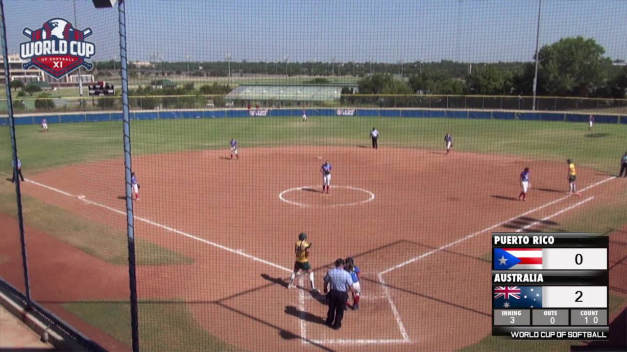 World Cup of Softball XI: Puerto Rico vs Australia