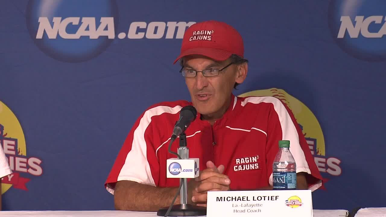 2014 NCAA WCWS Game 3 - Lafeyette Press Conference 5/29/14