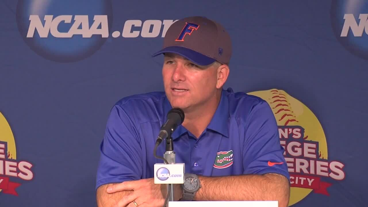 2014 NCAA WCWS Game 5 - Florida Press Conference 5/30/14