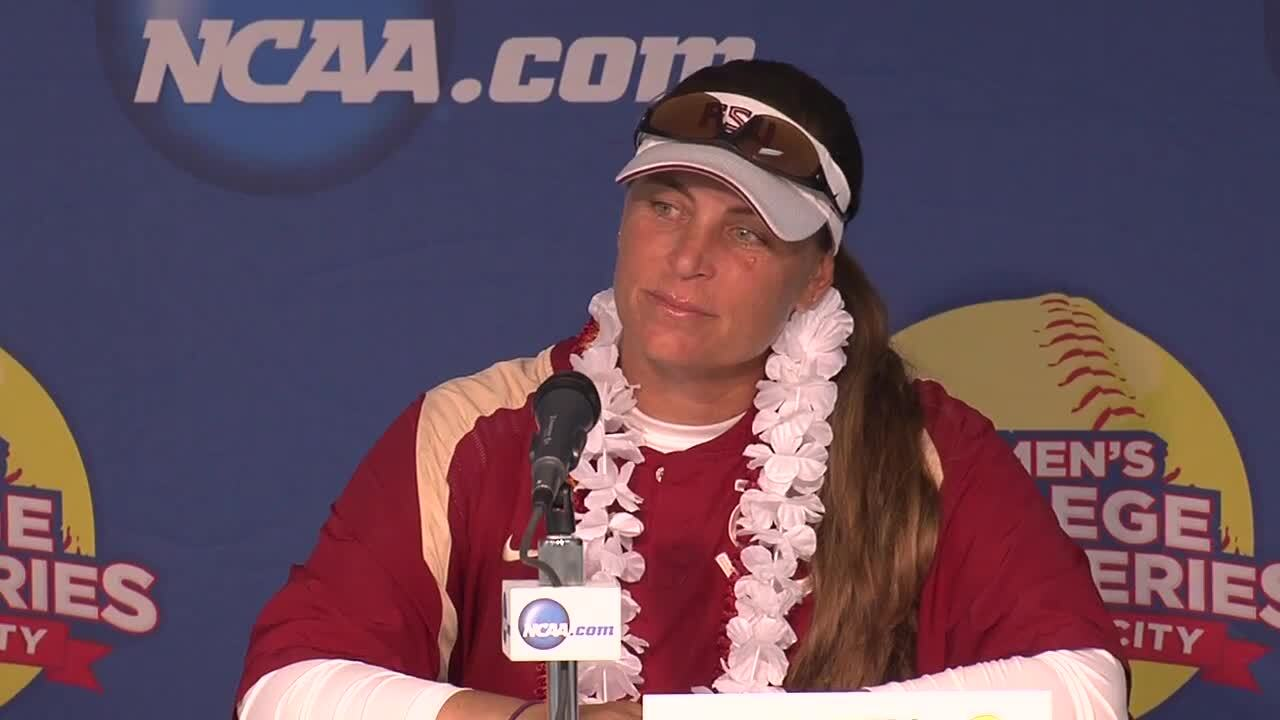 2014 NCAA WCWS Game 7 - Florida State Press Conference 5/31/14