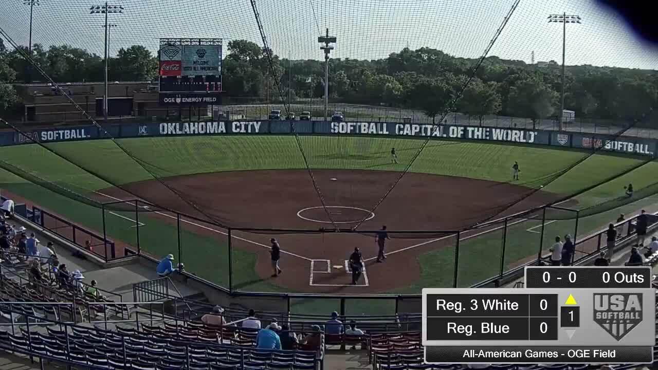 All-American Games | August 16 | 8:30am OGE Energy Field | Reg. 3 White vs. Reg. 7 Blue