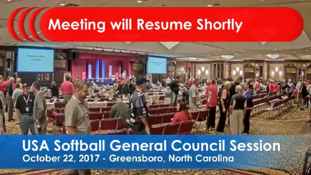 2017 USA Softball Annual Meeting Opening General Council Session