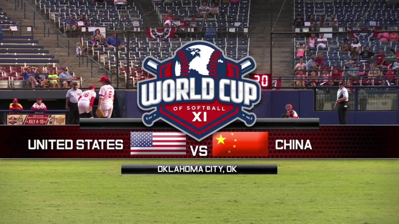 World Cup of Softball XI: USA vs China