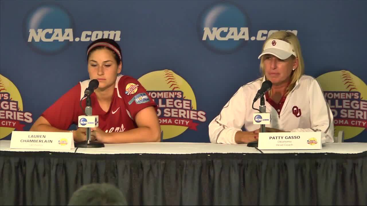 2014 NCAA WCWS Game 4 - Oklahoma Press Conference 5/29/14