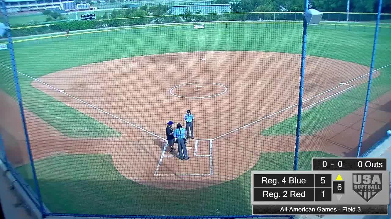 All-American Games | August 16 | 10:15am Field 3 | Reg. 6 Red vs Reg. 3 Red