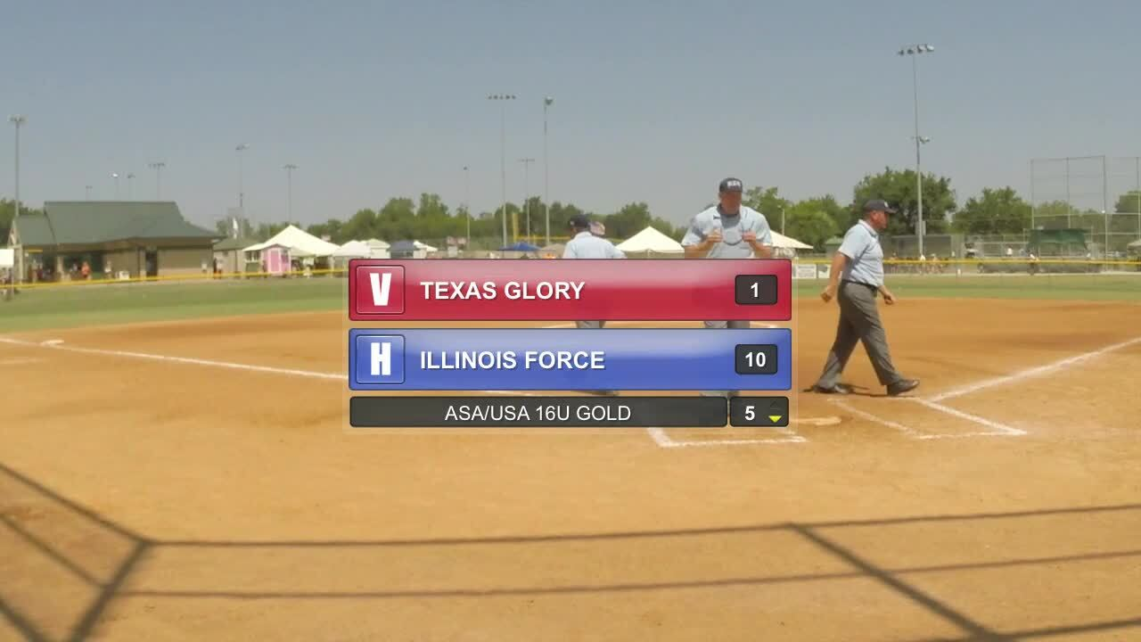 ASA/USA 16U GOLD - TX Glory vs IL Force & IL Force vs TN Fury 98