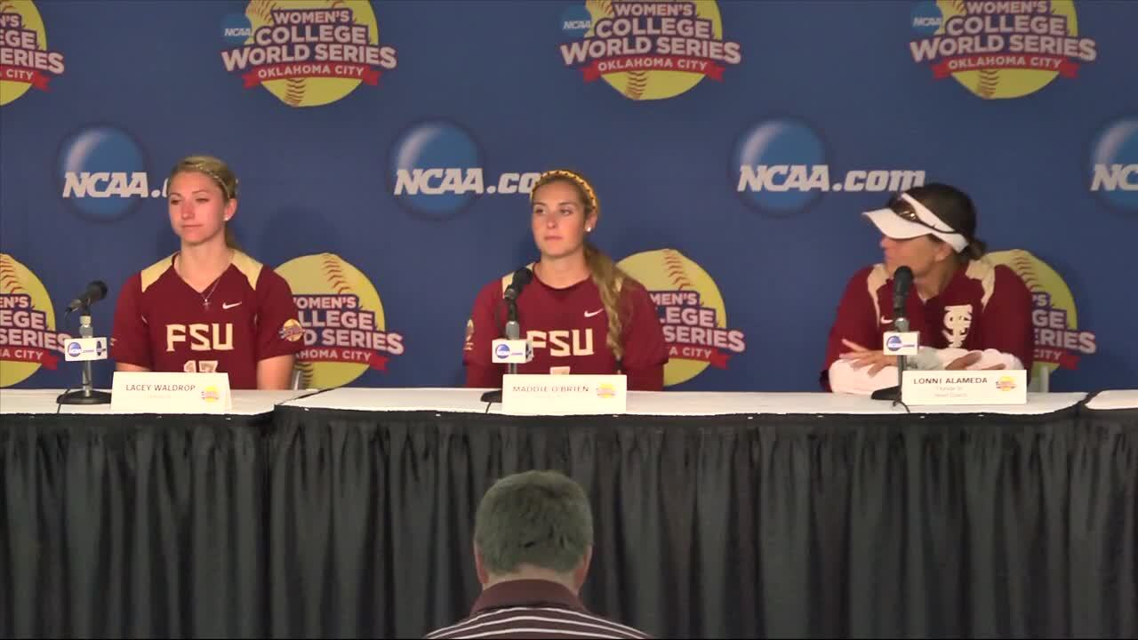 2014 NCAA WCWS Game 2 - Florida State Press Conference 5/29/14