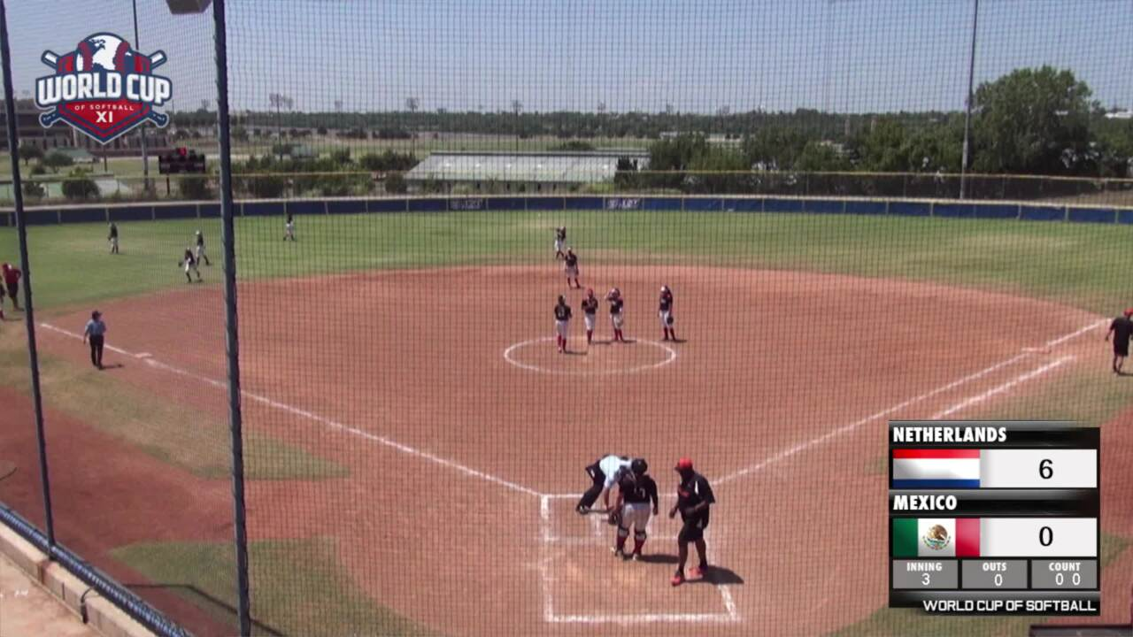 World Cup of Softball XI: Netherlands vs Mexico