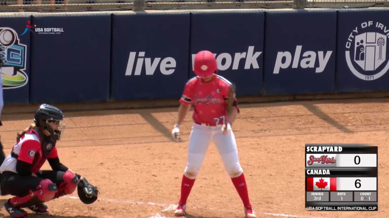 USA Softball International Cup Fifth Place Game - Scrap Yard vs Canada