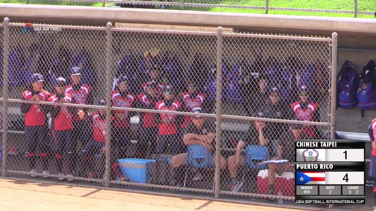 USA Softball International Cup - Chinese Taipei vs Puerto Rico