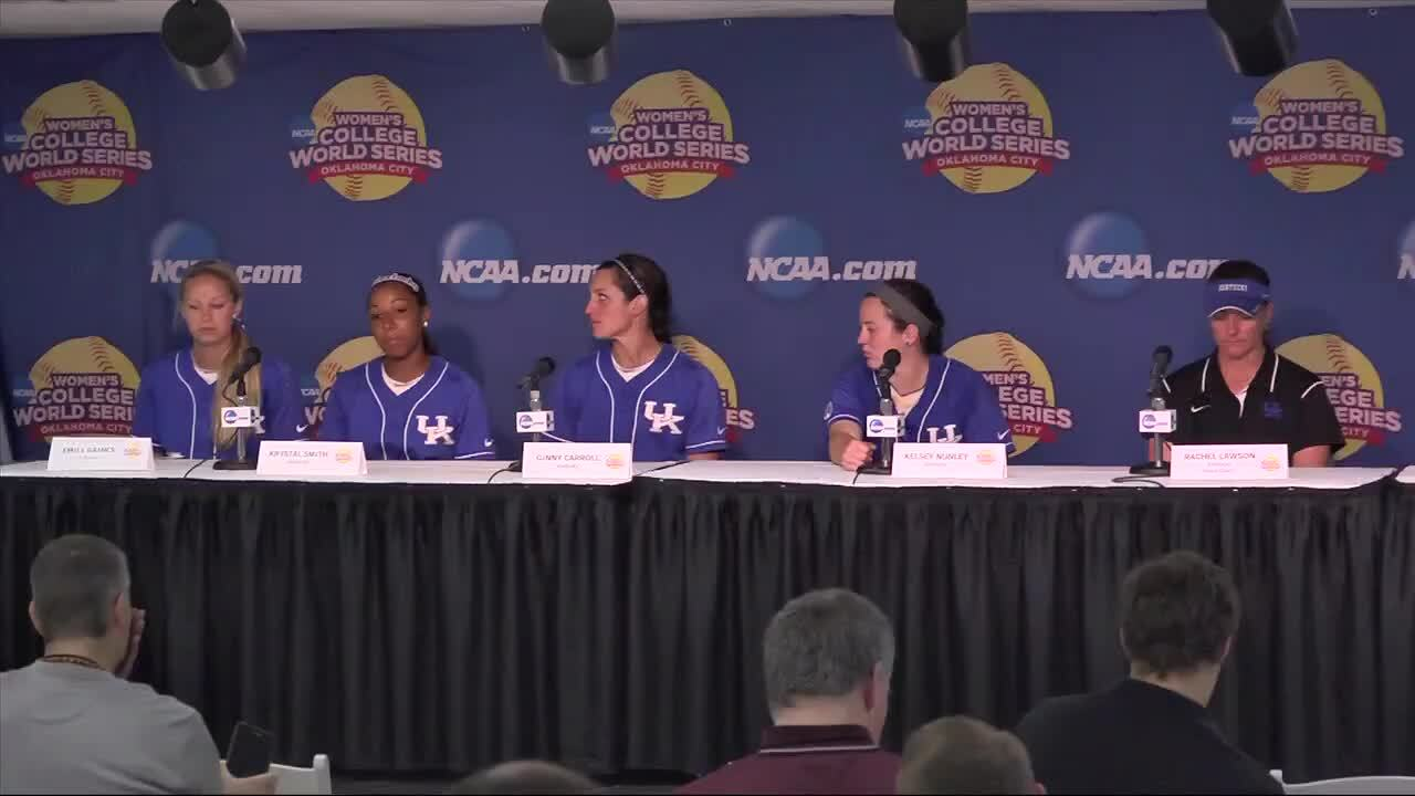 2014 NCAA WCWS Game 9 - Kentucky Press Conference 5/31/14